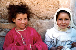 Berber girls from the High Atlas Mountains
